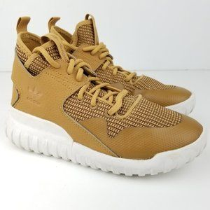 Adidas Tubular X Prime Knit Sneakers Gold Lace up